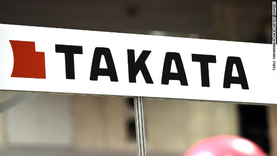 Record recall sends Takata shares plunging