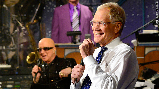 Letterman replaced with CBS reruns until Colbert
