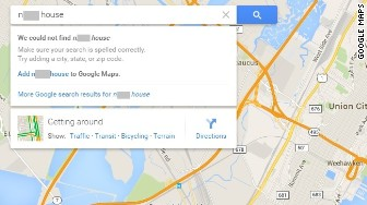 white house google maps n-word issue fixed