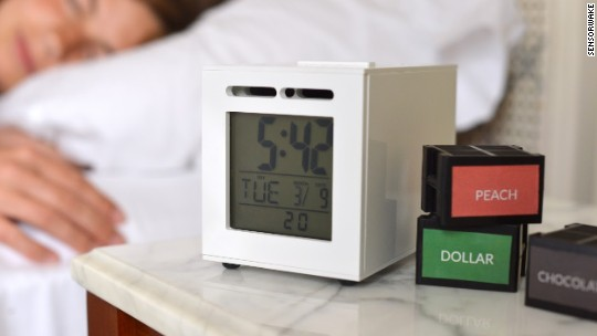 This alarm clock wakes you up with the smell of cash