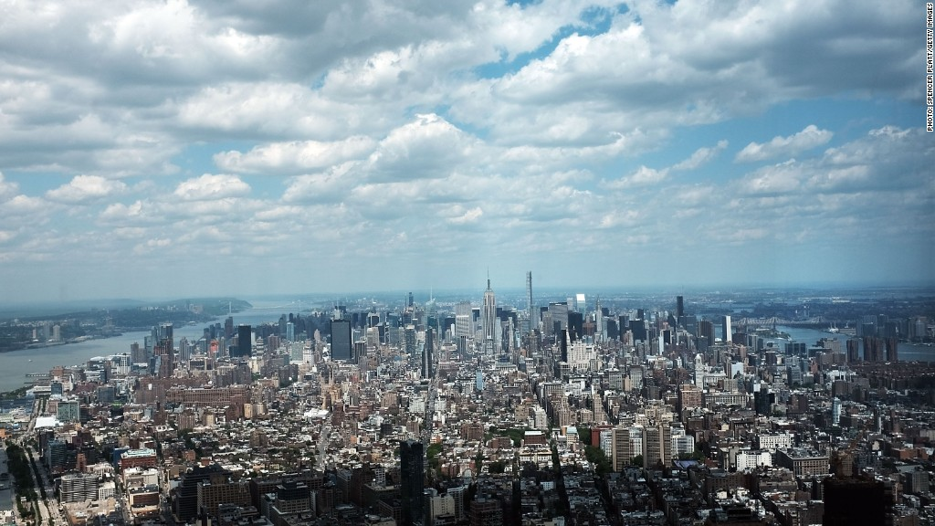 The view from One World Trade Center's observatory