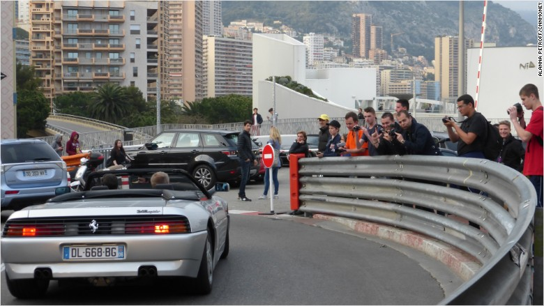 monaco car tourists