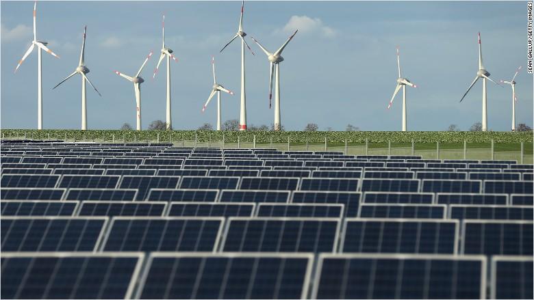 green energy solar wind