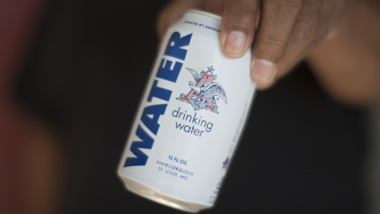 Beer company canning water for flood victims