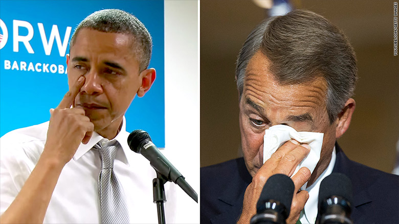 obama boehner crying