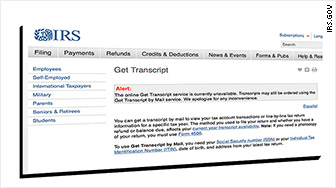 irs.gov screengrab