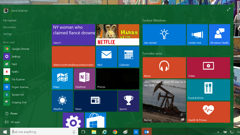 windows 10 start build 10074