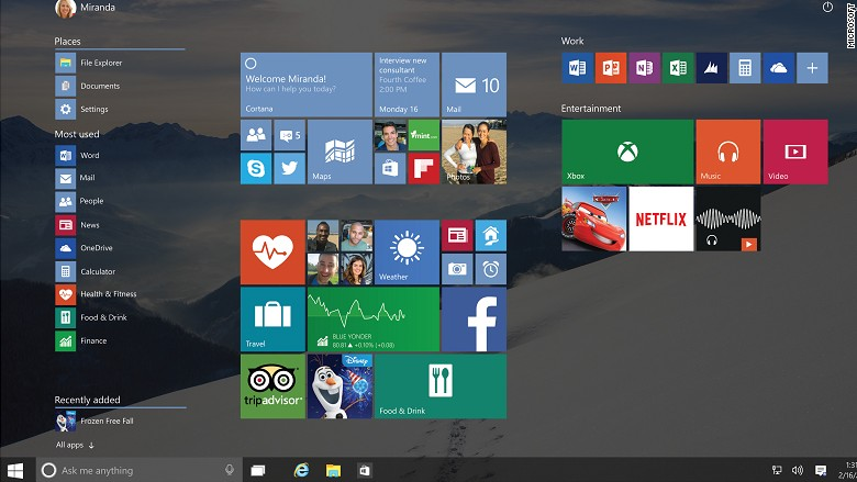 Windows 10's make or break feature: The Start menu - May. 31, 2015