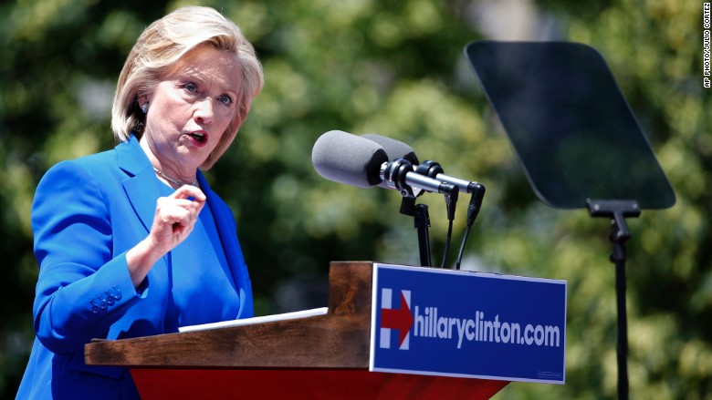 hillary clinton roosevelt island campaign speech