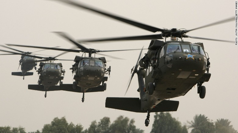 U.S To Hand Over Four Black Hawks helicopters By Fiscal Year End