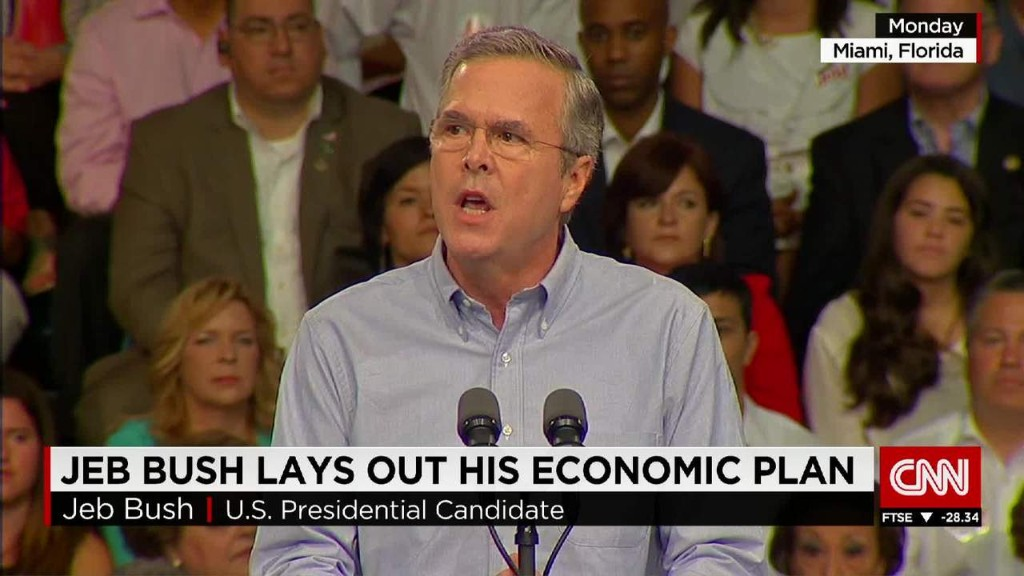 Jeb Bush lays out his economic plan
