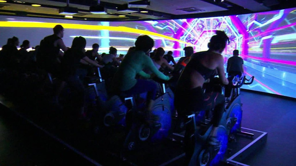 Virtual reality spinning: New fitness craze?