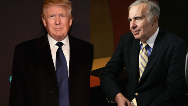 Icahn left Trump party to buy stocks as markets plunged
