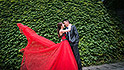 taiwanese bride red dress fly