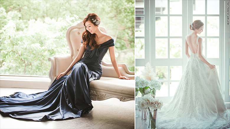 taiwanese bride two dresses