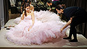 taiwanese bride pink dress