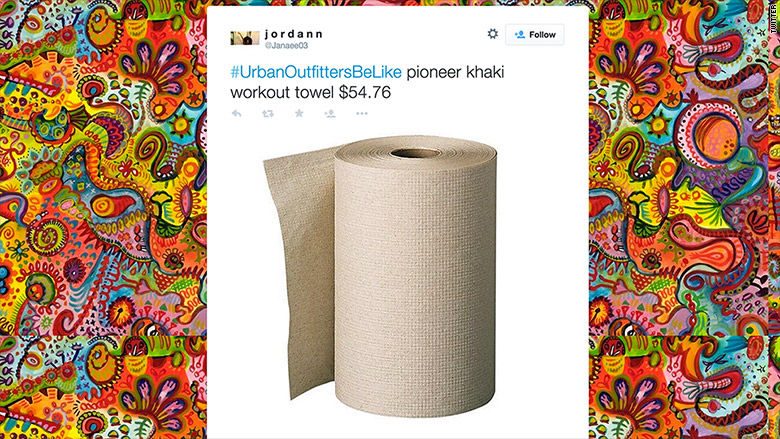 urban outfitters be like paper towels
