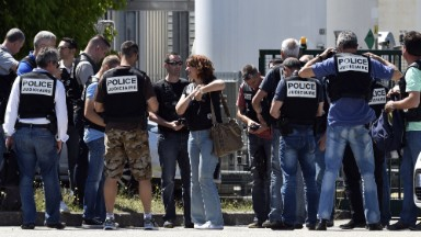 Terror attack at American-owned factory in France