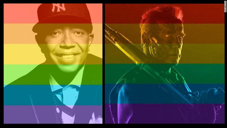 Facebook celebrities rainbows