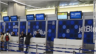 jetBlue passengers airport