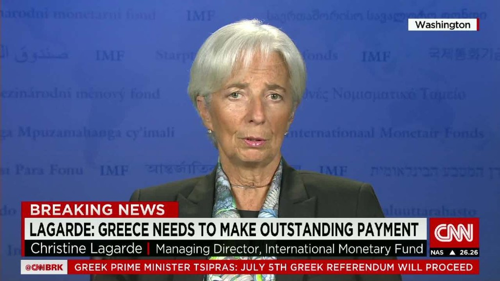 Christine Lagarde: IMF can no longer finance Greece