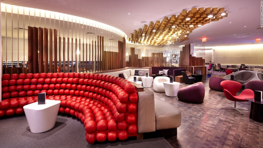 Virgin atlantic clubhouse new york jfk international airport inside the most luxurious - Design lounges ...