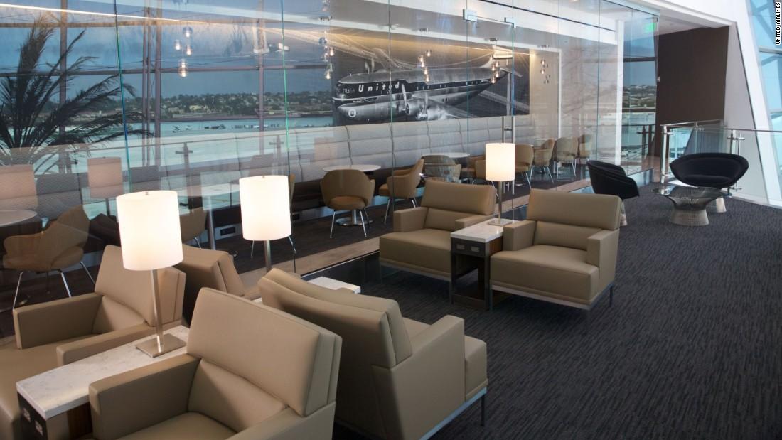 United Club San Diego International Airport Inside The