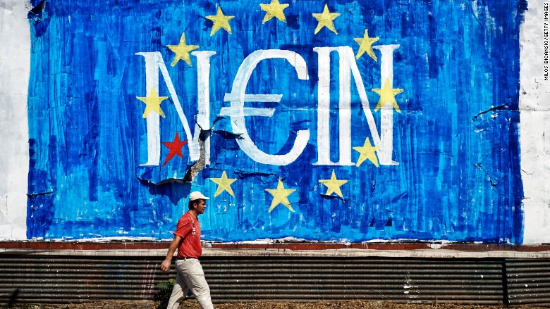 Greeks share their views with graffiti