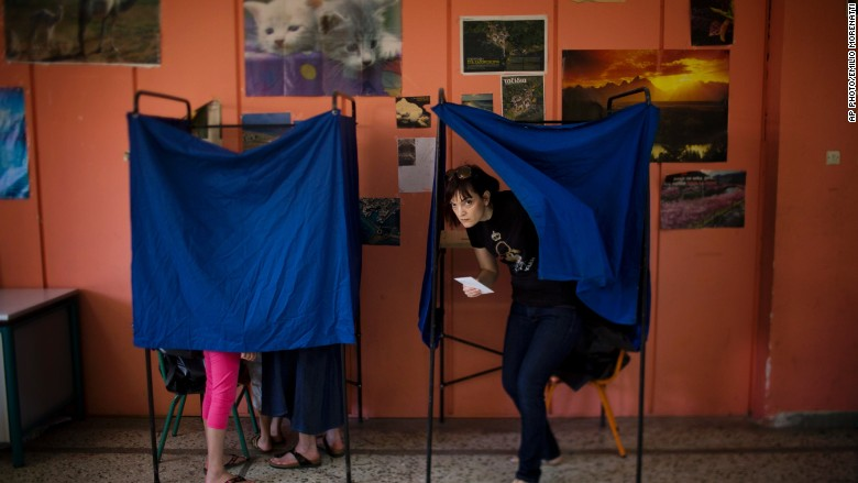 Greeks voting on their future in Europe