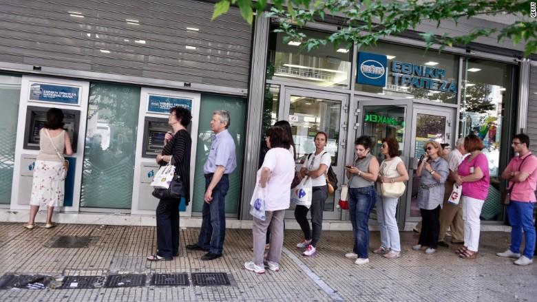 Greece ATM lines