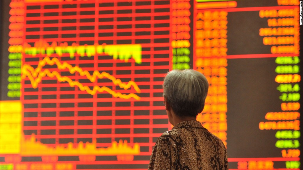 Companies pull shares as China's market plunges