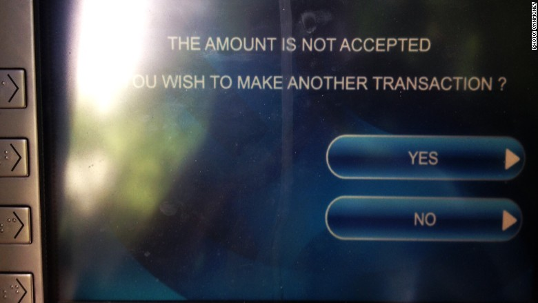 greece atm not available