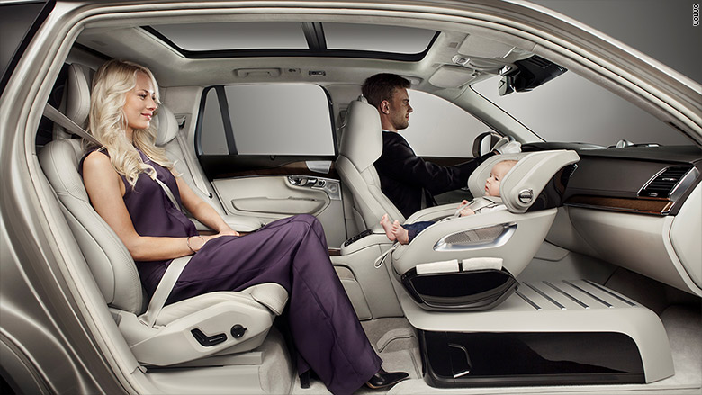 volvo debuts new baby seat in the front. Black Bedroom Furniture Sets. Home Design Ideas