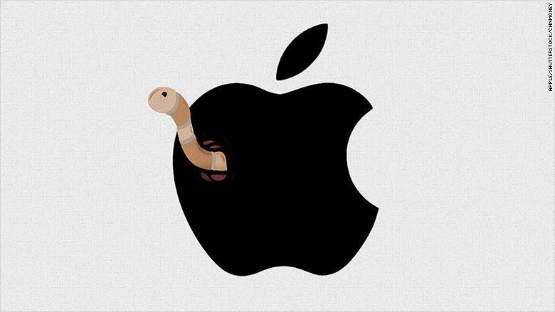 apple stock down