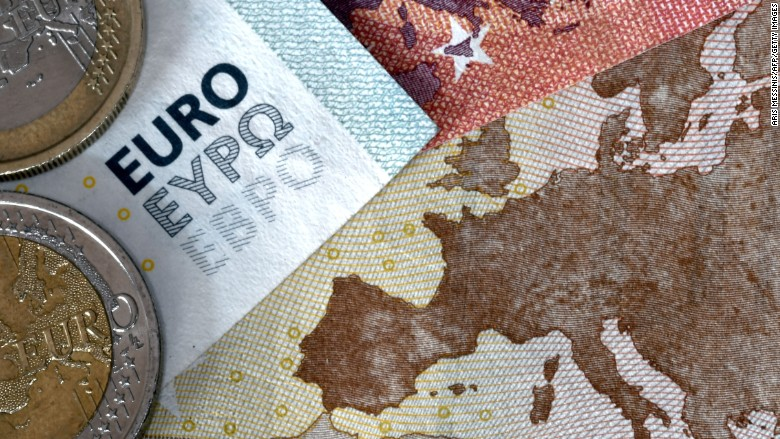euros and map