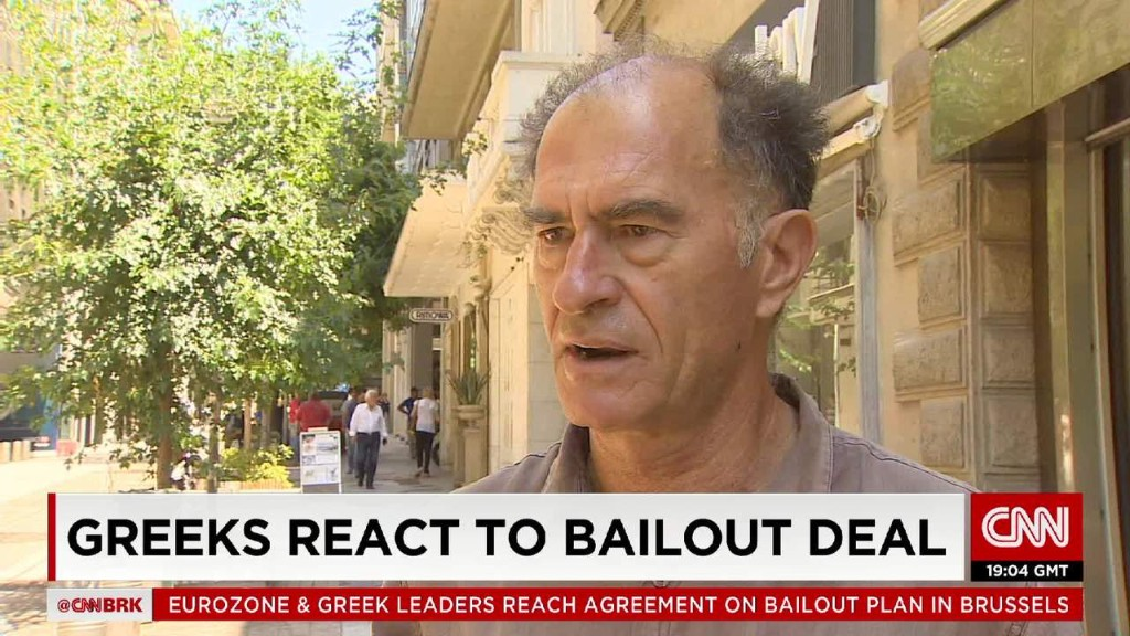 Greeks react to bailout deal