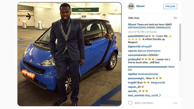 50 Cent pokes fun at bankruptcy woes - Jul. 14, 2015