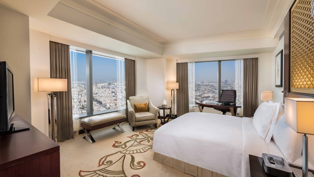 Conrad dubai uae special access the best hotel club for Best hotel rooms in dubai