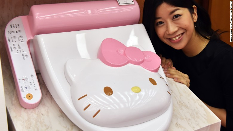 Bathroom Accessories. 6 Of 6. Hello Kitty Toilet