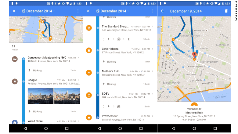 Google Reveals Your Location History In Maps