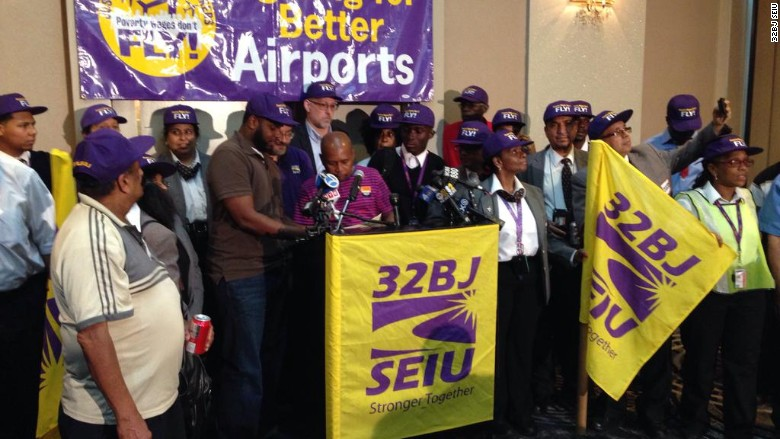 32bj airport worker