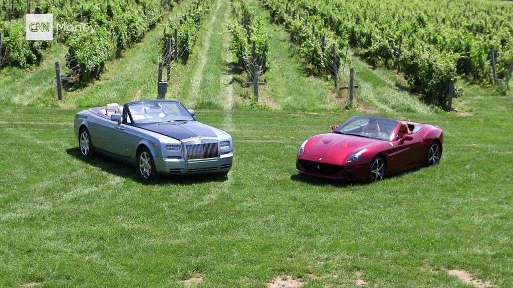Two Convertibles: Rolls-Royce vs. Ferrari
