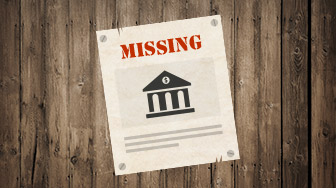 missing person bank