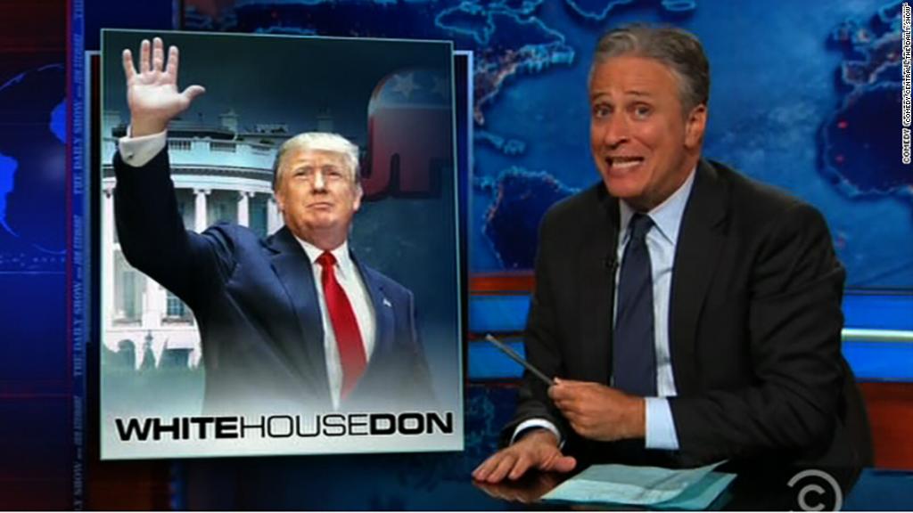 Jon Stewart savors Trump's presidential announcement