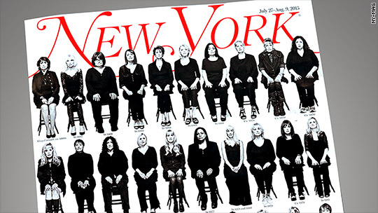 Cosby's 35 accusers appear on magazine cover