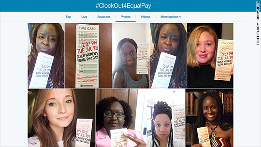 Equal pay: Advocates say 'clock out' for black women