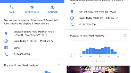 Google Maps will help you avoid waiting in line