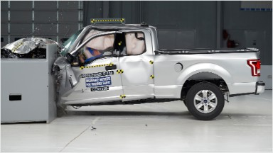 Watch the new aluminum Ford F-150's crash test