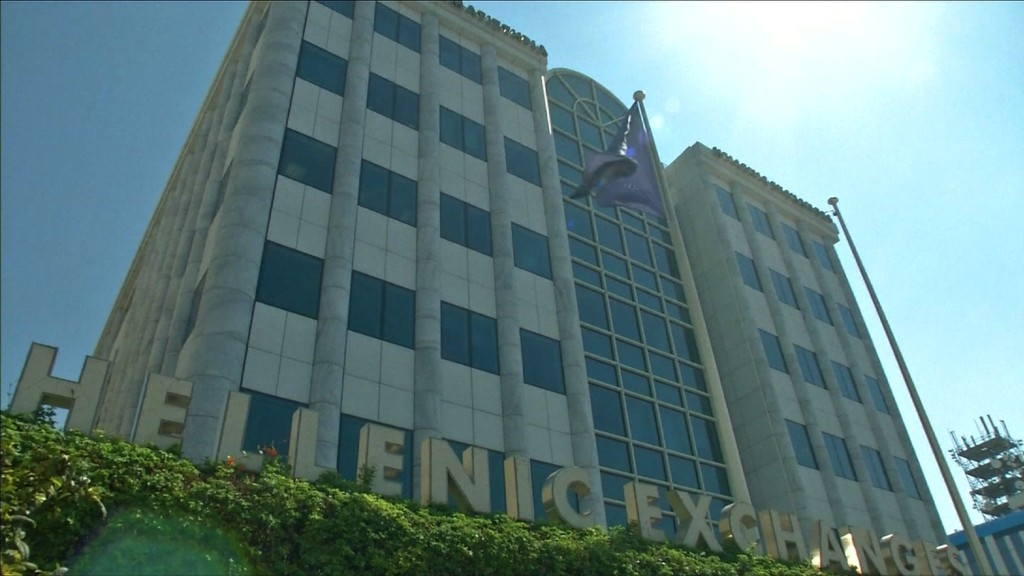Greek stock market plummets after reopening