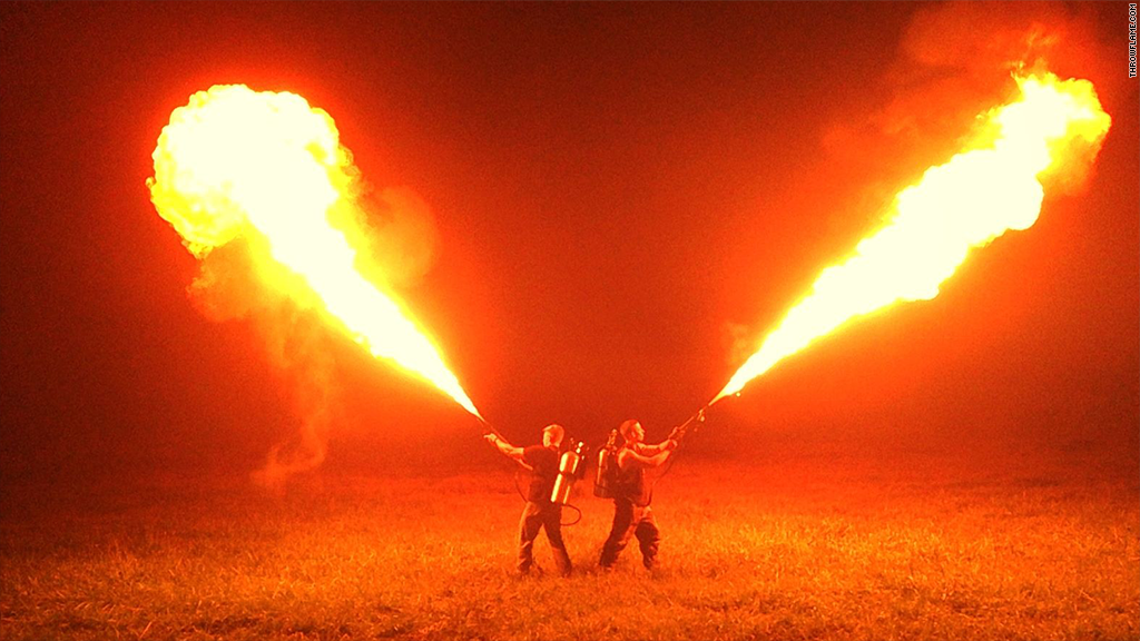 Check out the $1,600 flamethrower